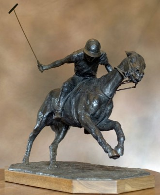 """""""Turn of the Play"""" 2008, Bronze, Edition 3/8, 13 x 24 x 22 inches, Signed & Numbered"""