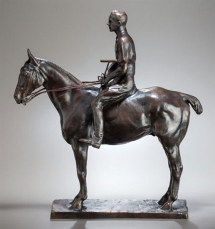 """Polo Player on Pony: Skiddy Von Stade"" Bronze, Edition of 25, 18 x 17 x 6 inches, Signed & Numbered. Skiddy Von Stade was one of Long Island most famous polo players, like Rumsey, an 8 goal player with Meadowbrook Polo Club."