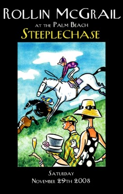 Palm Beach Steeplechase 2008, Framed Poster Print, 17 x 11 inches, Framed: 19 x 13 inches, Signed