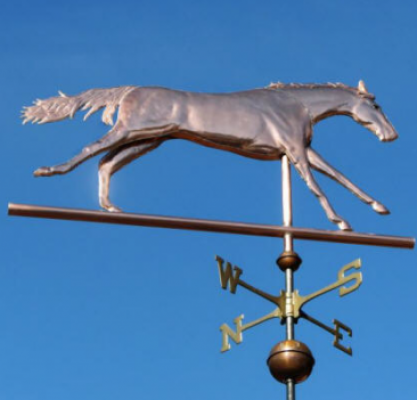 """Running Thoroughbred Weathervane"" Custom Orders Available"