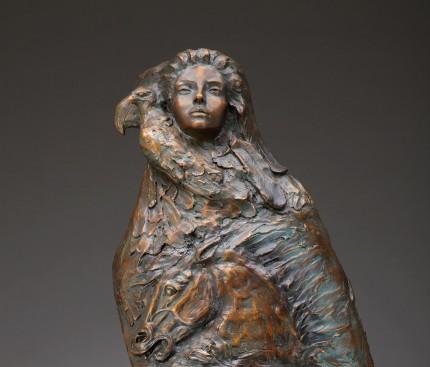 """""""The Spirit of Women"""" 8 foot tall bronze"""