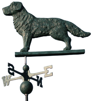 """Black Lab Weathervane"""