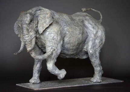 """African Elephant"" Limited Edition: 12, Bronze, 60 x 30 x 45 cm, Signed"