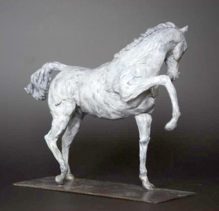 """Arabian White"" Limited Edition: 12, Bronze, 22 x 30 x 12 cm, Signed"