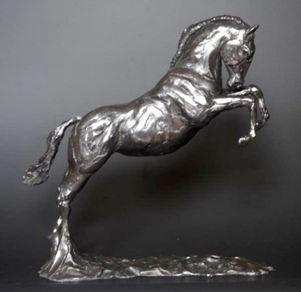 """Jumping Horse"" Limited Edition: 12, Bronze, 35 x 35 x 15 cm, Signed"
