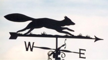Silhouette Fox Directional Weathervane