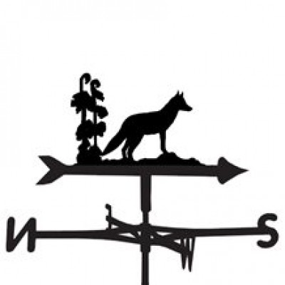 Silhouetted Wild Fox Weathervane