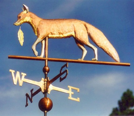 Fox with Feather Weathervane