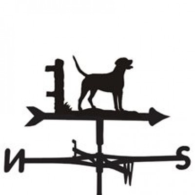 Silhoeutted Foxhound Weathervane