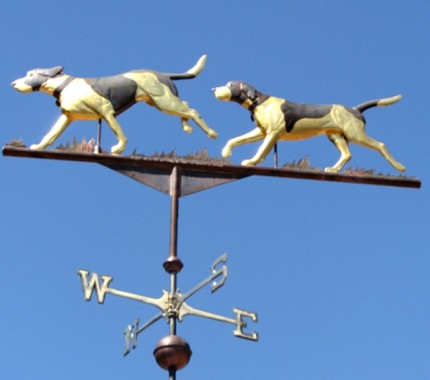 Foxhounds Running Weathervane