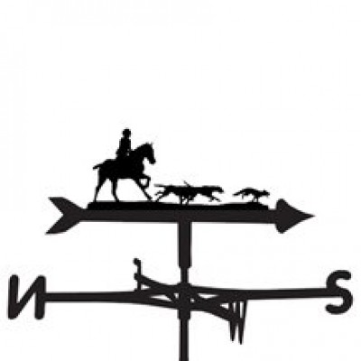 Silhouetted Fullcry Hunting Weathervane