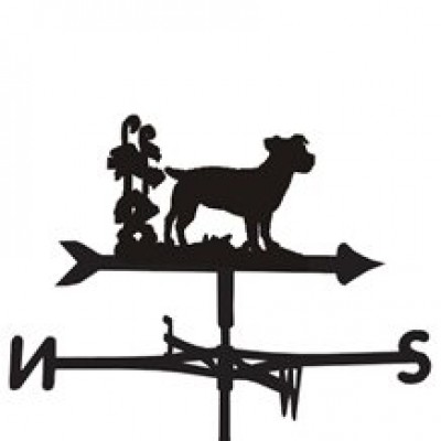 Silhouetted Jack Russell Weathervane