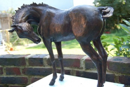 """Lilly"" Edition: 2/8, Bronze, 15.75 x 17.75 inches, Signed"