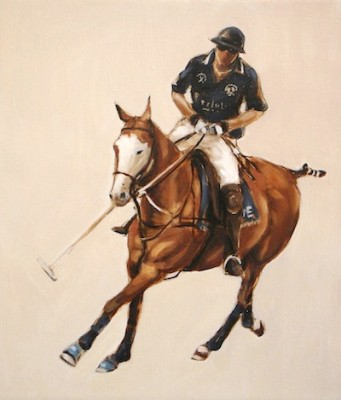"""Polo Study - Oil Sketch III"" Oil on linen, 16 x 14 inches, Signed"