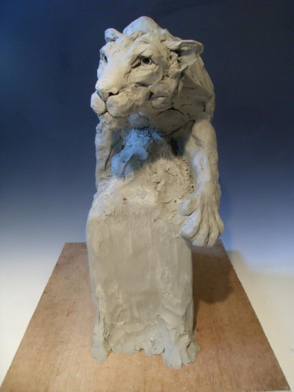 """On The Prowl"" (Lioness) Clay to be cast in bronze $POA"