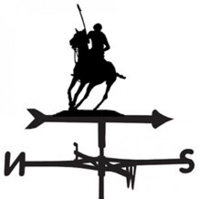 Silhouetted Polo Weathervane