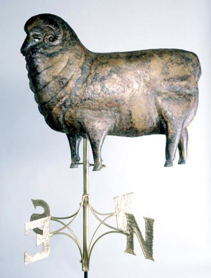 """Ram Weathervane"" (Other view) 25 inches long, Available with 23.5 kt gold leaf"