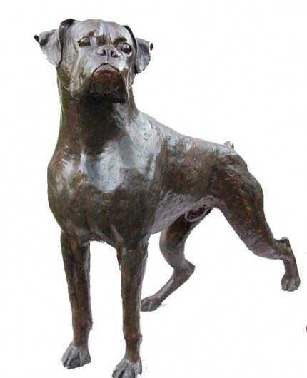 """Boxer Life Size"" Edition of 6, Bronze, Signed"