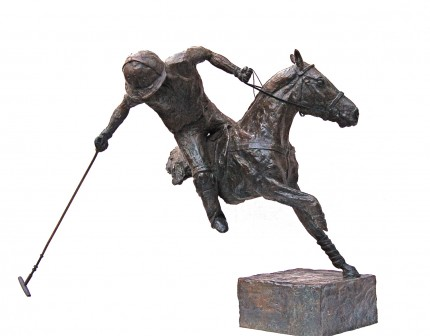 """Line of the Ball"" Edition: 1/8, Bronze, 11 x 13.75 inches"