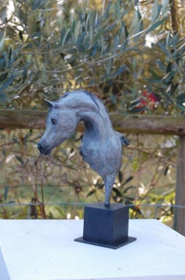 """Pretty Boy – Arab Horse"" Edition: 2/8, Bronze on Bronze Base, Height: 9.85 inches"