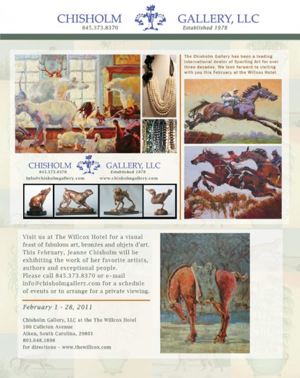 Chisholm Gallery Exhibition at the Willcox Hotel in Aiken, S.C. throughout the month of February, 2011