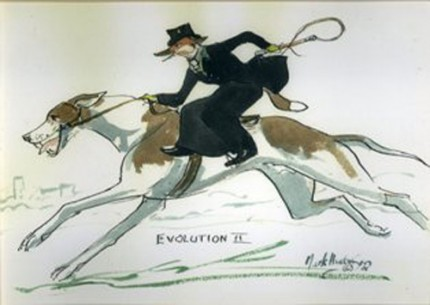 """""""Evolution 2"""" Mark's unique sense of humour at the world of Fox Hunting. MH036"""