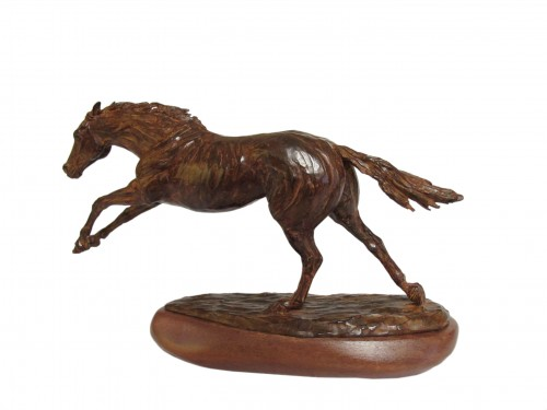 """""""El Crack"""" Bronze, Series of 10, 10 x 18 x 3.5 inches, Signed & Numbered"""