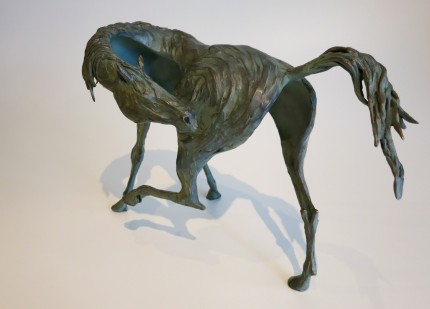 """""""Wild Itch"""" Lost wax bronze, Series of 10, 9.5 x 15 x 5 inches, Signed & Numbered"""