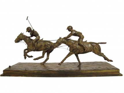 """""""Jugada"""" Bronze, Series of 6, 10 x 24 x 8 inches, Signed & Numbered"""