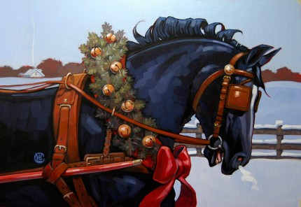 """Christmas Prinz"" Acrylic on board, 12 x 18 inches, Signed"