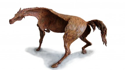 """""""Furioso"""" Direct wax bronze casting, One of a kind original wax casting, 15.7 x 24 x 15.7 inches, Signed"""