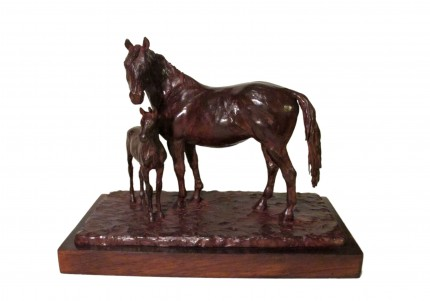 """""""Yegua y Potrillo"""" Bronze, Series of 10, 8 x 12 x 6 inches, Signed & Numbered"""