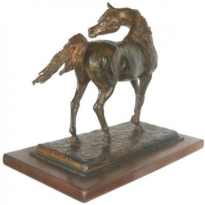 """""""Zad el Rakib"""" Bronze, Direct wax casting, 17 x 19 x 11 inches, Signed"""