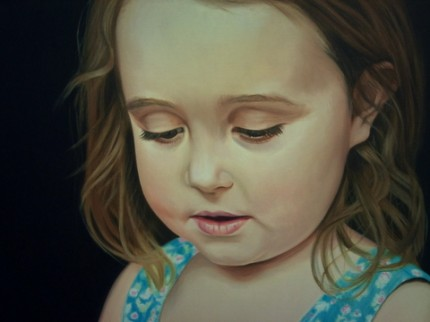 "Josephine, oil on canvas, 12"" x 16"""