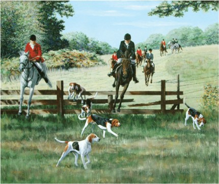 """Myopia Hunt"" West Newbury MA, Oil on canvas, 30"" x 36"""