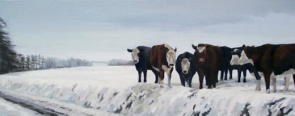 """Waiting, Oil on Canvas, 20 x 8"""""""