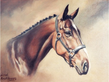 """O'Riley"" Commissioned Portrait, Oil on canvas, 16 x 12 inches, Signed"