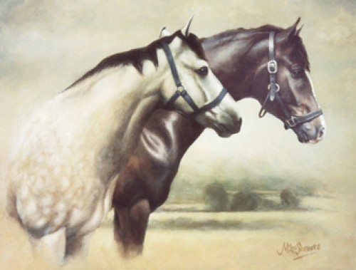 """Marcus & George"" Commissioned Portrait, Oil on canvas, Signed"