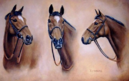 Istabraq, Oil on Canvas, 15 x 23 inches