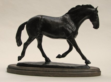 """Jake - The Master's Horse"" Bronze, Edition of 3, 10 x 5 x 15 inches, Signed"