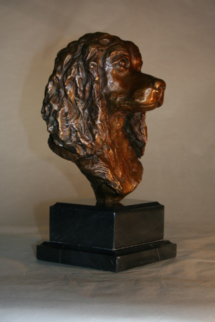 """Jessy Sits"" (Side view) Bronze, 2 A/P, Edition of 12, 14 x 6 x 6 inches"