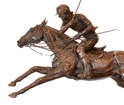 """""""Adolfo Cambiaso on Aiken Cura"""" Bronze, 33 x 22 x 8 inches (without mallet), Edition: 17/25, Signed & Numbered"""
