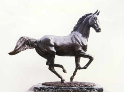 """""""Morning Air"""" Modelled from Desert Orchid for Albany China Company, Bronze, Edition: 5/25, 40 x 40 x 13 cm"""