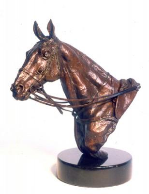 """""""Polo Pony Portrait Bust"""" Bronze, Edition: 4/27, 19 x 19 x 10 cm"""