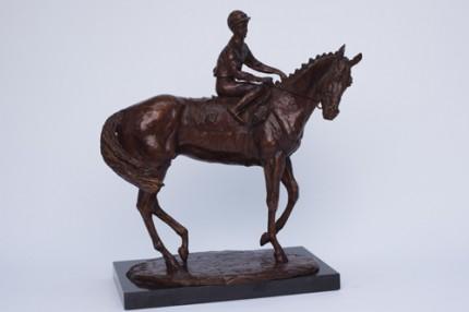 """Horse and Jockey"" T. Quinn on Snurge, Bronze, Edition: 4/10, 23 x 30 x 15 cm"