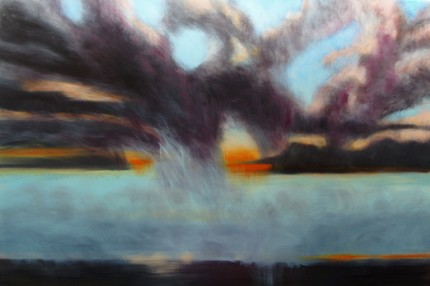 """""""Big Sky #3"""" Oil on canvas, 48 x 72 inches, Signed"""