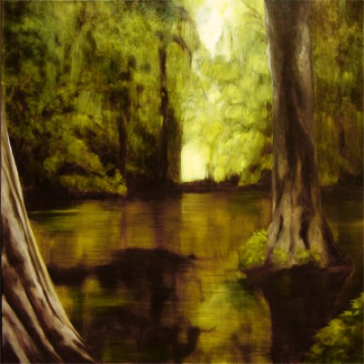 """""""The Door in the Forest"""" Oil on canvas, 30 x 30 inches, Signed"""