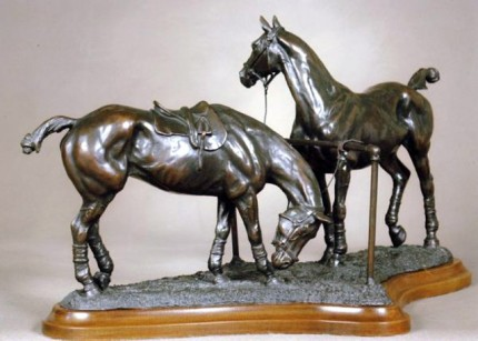 """Polo Lines"" Bronze, Edition of 9, 12 x 20 inches, Signed & Numbered"