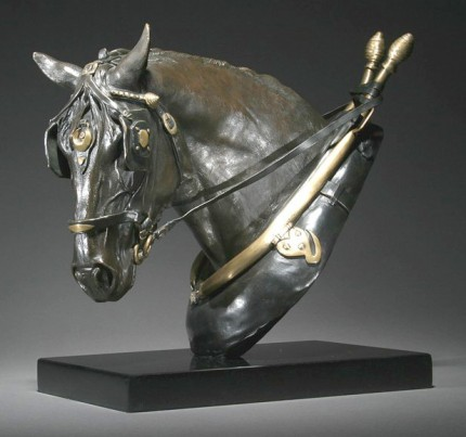 """Sunday Workhorse"" Bronze, 12 x 12 inches, Edition of 9, Signed & Numbered"