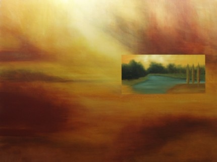 """""""Land's Window"""" Oil on canvas, 48 x 64 inches"""